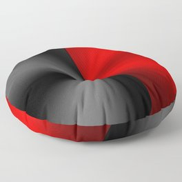 Slick masculine black and red metallic design Floor Pillow