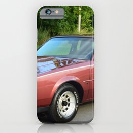 Rare 1987 GM Rose colored Grand National Regal T-Type Turbo iPhone Case