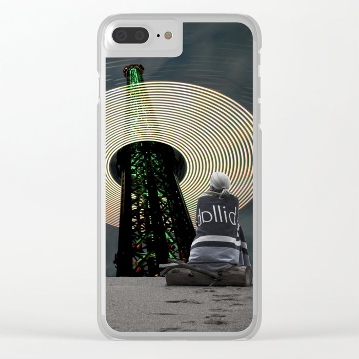 Digital Waves Clear iPhone Case
