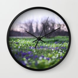 Late Winter Blooms Wall Clock