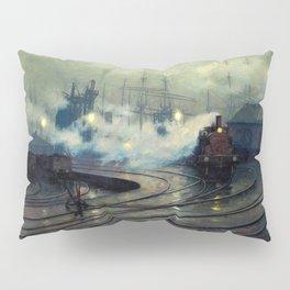 Classical Masterpiece Cardiff Docks by Lionel Walden, circa 1894 Pillow Sham