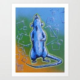 Happy rattie Art Print