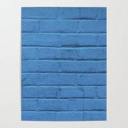 Urban Brick - Blue Jazz Poster