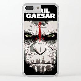 Hail Caesar Clear iPhone Case