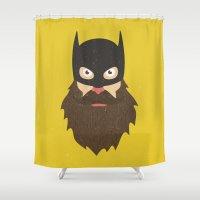 chuck Shower Curtains featuring Beardman by Beardy Graphics