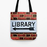 library Tote Bags featuring Library by Biff Rendar