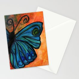 Stained Glass Butterfly Stationery Cards