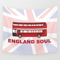 england Wall Tapestries featuring England Soul by Tony Vazquez