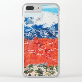 Pikes Peak Behind the Garden of the Gods Clear iPhone Case