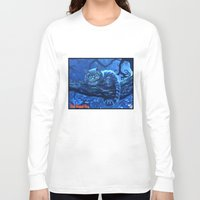 cheshire cat Long Sleeve T-shirts featuring Cheshire Cat by Tom C Carlton
