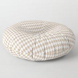 Pantone Hazelnut Rippled Diamonds, Harlequin, Classic Rhombus Pattern Floor Pillow