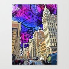 5th Avenue Graffiti Canvas Print