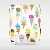 ice cream Shower Curtains featuring Ice cream  by maria carluccio