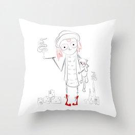 urban child Throw Pillow