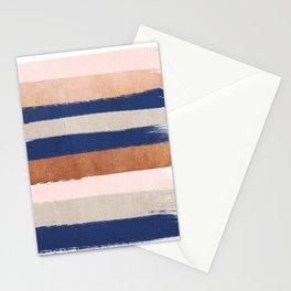 Stripes abstract minimalist painting bronze copper gold metallic stripe pattern decor nursery Stationery Cards