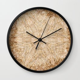 Petrified Wood Kaleidoscope Wall Clock