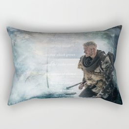 Let The Silence Speak Rectangular Pillow