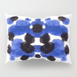 Periwinkle Purple Blue And Black Ink Blot Diagram Pillow Sham