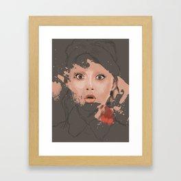Splash portrait Framed Art Print