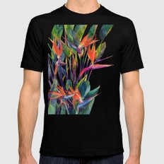 The bird of paradise Mens Fitted Tee MEDIUM Black