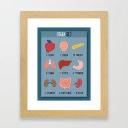 Organised Framed Art Print