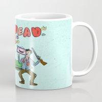 evil dead Mugs featuring ♥ EVIL DEAD 2 ♥ by Josh LaFayette