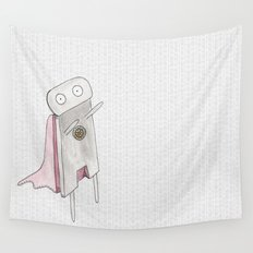 Robot superhero II Wall Tapestry