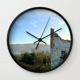 Beauty Beyond the Crumbling Walls Wall Clock