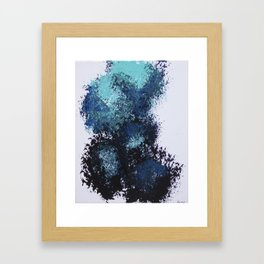 Blue Broom Balloons Framed Art Print