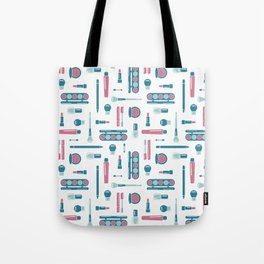 Cosmetic Items Repeating Pattern Tote Bag