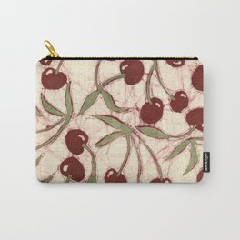 Sweet Cherry Batik Carry-All Pouch