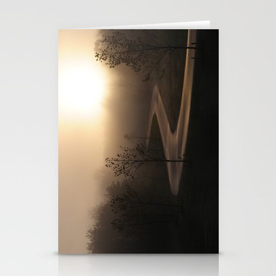 The long and winding misty and moody road Stationery Cards