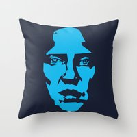christopher walken Throw Pillows featuring Walken by Aaron Synaptyx Fimister