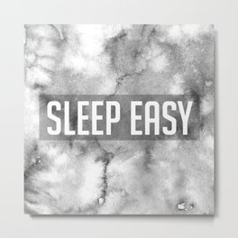Sleep Easy Marble Mantra Metal Print