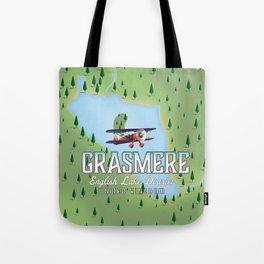 Grasmere English Lake District vintage map Tote Bag