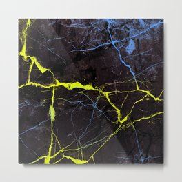 Beyond Gold and Blue Marble Metal Print