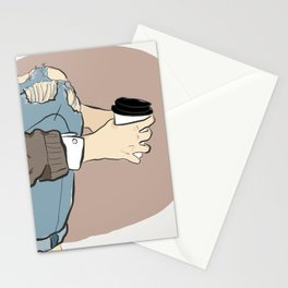 Fashion Latte To Go Stationery Cards