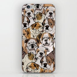 Social English Bulldog iPhone Skin