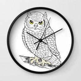 Cute Owl by Ines Zgonc Wall Clock