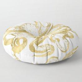 Gold Octopus Floor Pillow