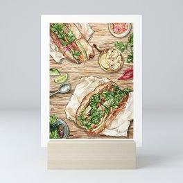 Banh Mi Lunch Spread Mini Art Print