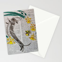 In The Year of the Earth Dog ( Dachshund and Orchids ) Stationery Cards