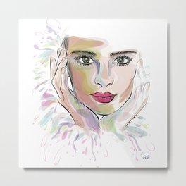 Beauty (part 1)- Watercolor series Metal Print