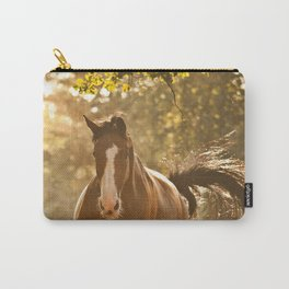 Horse in Sunset and Dust Carry-All Pouch