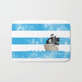 Pirates Love Stripes Bath Mat