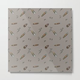Smoky cigar pattern Metal Print