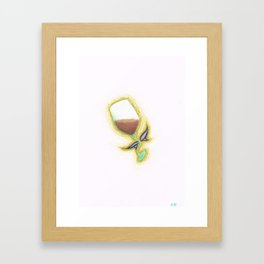 Wine Fairy Study Framed Art Print
