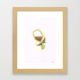 Wine Fairy Study Framed Art Print