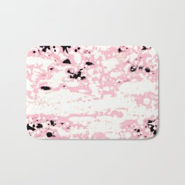Lava Pattern Abstract Rosé and White Bath Mat