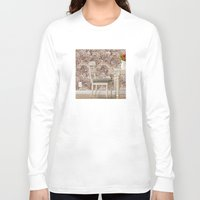 agate Long Sleeve T-shirts featuring agate walls,wallpaper by ira gora